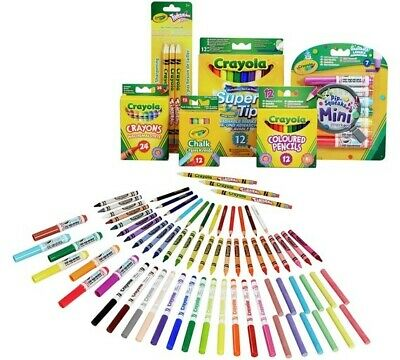 Crayola 70 Piece Stationery Set Crayons,Chalk,Pencils,Markers 4+ Years