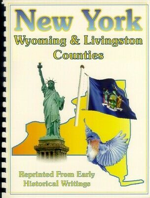 Wyoming & Livingston County NY 1841 Barber history RP Geneseo Perry New York