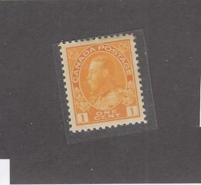 CANADA # 105  VF-MNH  1cts  KING GEORGE V ADMIRAL/ORANGE YELLOW  CAT VALUE $120