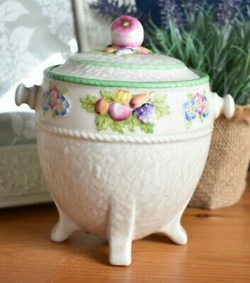 Vintage JHW & Sons Royal Falcon Ware Biscuit Barrel Shabby Chic (refM92)