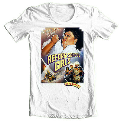 Reform School Girls T-shirt Free Shipping retro punk movie classic 1980's tee