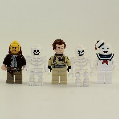 LEGO Minifigures Ghostbusters/Indiana Jones LOT OF 5 (Venkman, Stay Puft, Indy +