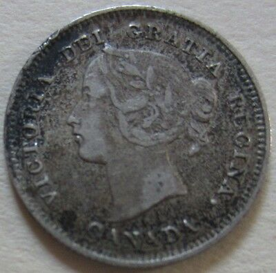 1896 Canada Silver Five Cents Cent Coin. VF NICE GRADE (RJ285)