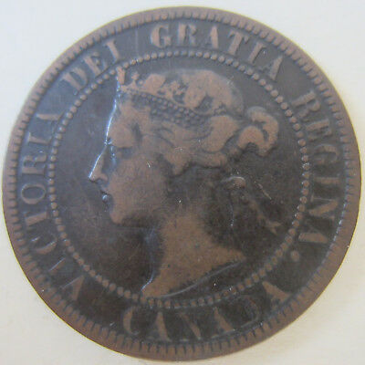 1898 Canada Large Cent Coin. KEY DATE BETTER GRADE (RJ450/999)