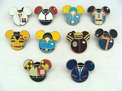 Walt Disney Trading Pin Lot Of 10 Assorted Uniform Pins