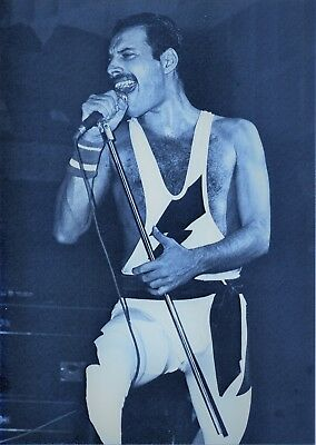 Freddie Mercury Photo Queen 1984 Unreleased Image Wembley Tinted 12 Inches Gem