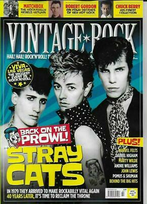 Vintage Rock Magazine July/August 2019 (Stray Cats, Chuck Berry, Matchbox) New