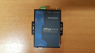 MOXA NPORT 3in1 WIRELESS SERIAL DEVICE SERVER - 12..48DC Supply --  W2150 PLUS