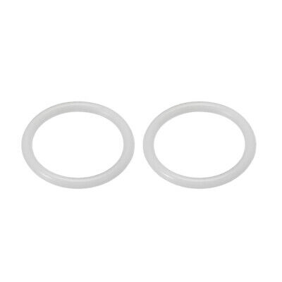 Silicone Faucet O-Ring Strainer Washer Drain Gasket 34mm OD White 2Pcs