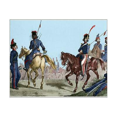 "14354284 10""x8"" (25x20cm) Print of Cossacks. Engraving. Colored"