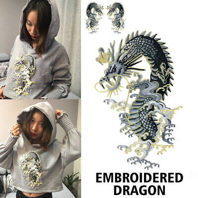 Embroidered Dragon Patch Sew On Iron On Badge Fabric Applique Craft Transfer DIY