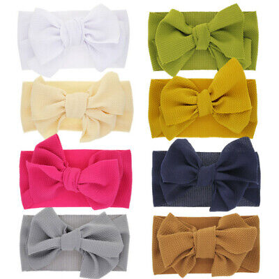 Newborn Infant Baby Flexible Hairband Bow Decor Headband Hair Accessories