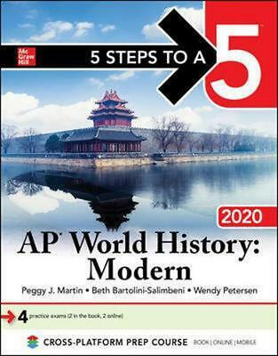 5 Steps to a 5: AP World History: Modern 2020 by Peggy Martin Paperback Book Fre