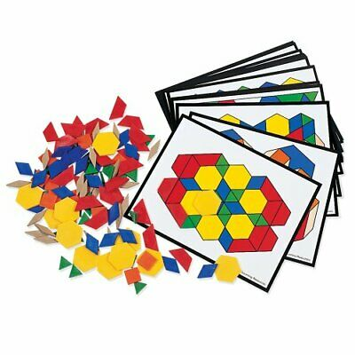 Learning Resources Pattern Block Activity Pack, Geometric Shapes, 160 Pieces,...