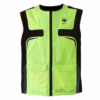 Merlin Hi-Vis Armour Plus CE Reflective Motorcycle Safety Vest - Fluo