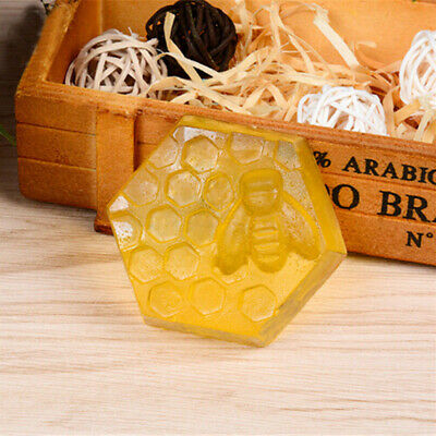 Silicone Mould 6 Hole Honey Bee Design Soap Clay Wax Mold for Handmade DIY Craft