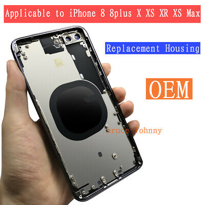 iphone 8 plus X XR XS Battery Housing Back Door Cover Replacement Frame Assembly
