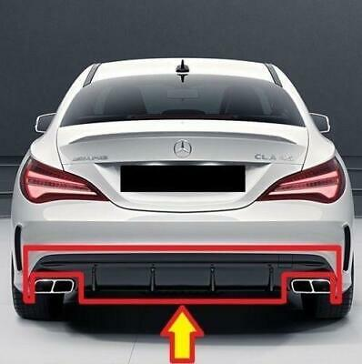 New Genuine Mercedes Benz Mb Cla W117 Cla45 Amg Rear Bumper Diffuser Gloss Black