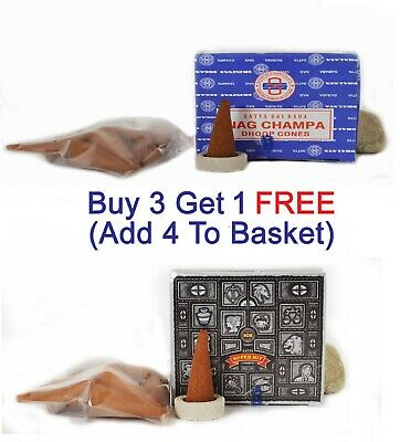 Original Satya Nag Champa Superhit Incense Dhoop Cones Insence Box