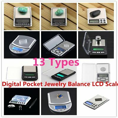 500g x 0.01g Digital Pocket Jewelry Balance LCD Scale / Calibration Weight 8B