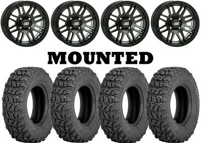 12x7//4x110mm ITP SS ALLOY SS316 Matte Black Wheel with Machined Finish