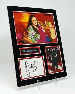 Sharon ROONEY Signed Autograph Mounted Photo Display AFTAL COA Scottish Actress