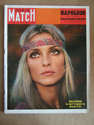 Paris Match Aout 1969 N° 1059 Mort Tragique De Sharon Tate. Irlande. St Laurent