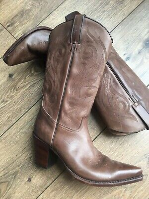192c5a77151 R. SOLES / Judy Rothchild brown leather cowboy boots size 6 - £8.00 ...