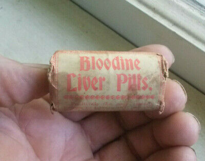 Bloodine Liver Pills Cures Constipation,Etc Boston Unopened 1890 Old Store Stock