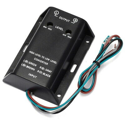 High to Low Speaker to RCA Converter for Automotive Audio Automobile refitting