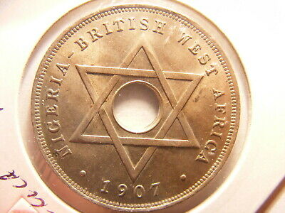 British West Africa, 1907 1 Penny (Cent), KM#2, Nice Uncirculated Coin