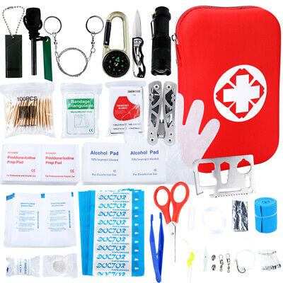 219x First Aid Kit Supplies Emergency Survival Gear Bug Out Medical Bag Tools
