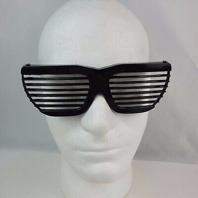 Authentic 1980's vintage Shutter Shades Black plastic sunglasses slats NOS Kanye