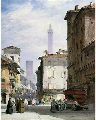 "12773985 10""x8"" (25x20cm) Print of Leaning Tower, Bologna"