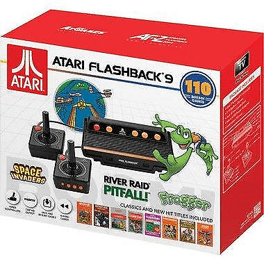 Atari Flashback 9, HDMI Game Consoles, 110 Games, Wired Joystick Controllers, Bl