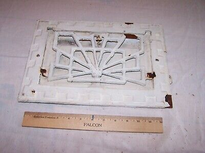 Antique Vintage FANCY Cast Iron Floor Wall Return Register Grate Vent ODD UNIQUE