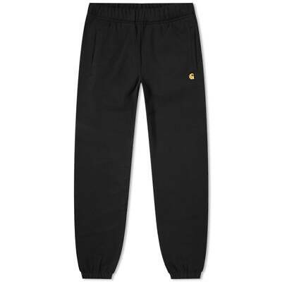 Carhartt Chase Sweatpants Jogging Bottoms Black / Gold Mens Size Xs/S/M/L/Xl/Xxl
