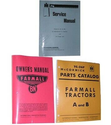 Farmall Bn Service Shop Owners Operators & Parts Manual