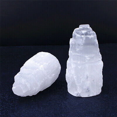 Large SELENITE TOWER Rough  Crystal Morocco Natural Carved Healing Energy