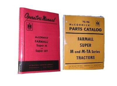 FARMALL Super M & MV Owners Manual & Part's Catalog IH