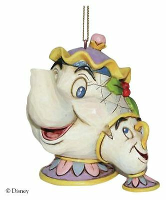 Disney Traditions Mrs Potts and Chip 7cm Resin Hanging Ornament