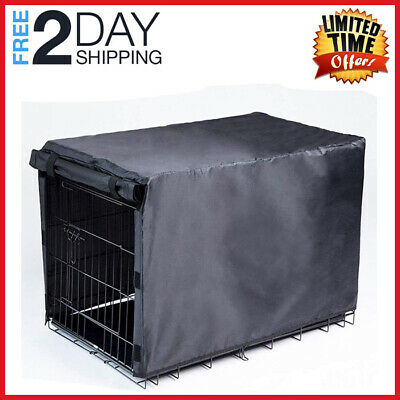 """48"""" Extra Large Giant Breed Dog Crate Kennel XL (Folding Cover) Pet Wire Cage"""