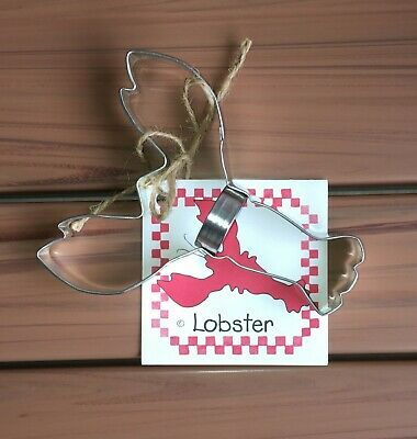 Lobster Tin Plated Steel Cookie Cutter by Ann Clark with Recipe Card