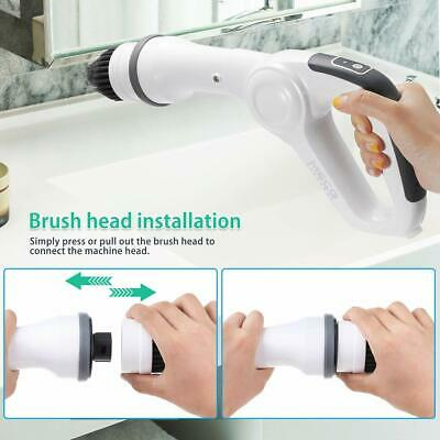 Electric Spin Scrubber Cleaning Brush Handheld Cordless Scrubber