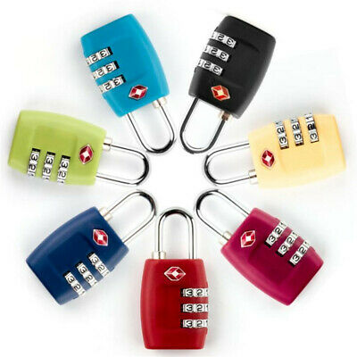 TSA Code Lock 3 Digital Combination Suitcase Luggage Security Password Lock RKCA