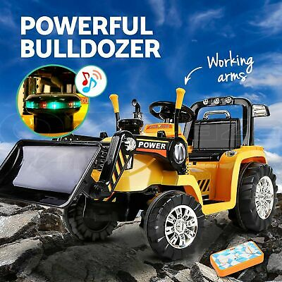 NewRIGO Kids Ride On Bulldozer Digger Car Loader Tractor Excavator Electric Toys