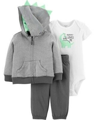 Carters Baby Boy 3-Piece Jacket Set - Dinosaur - 'Mommy Loves Me' NWT outfit