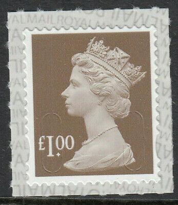 GB 2019 £1 SELF ADHESIVE MACHIN CODE M19L ROYAL MAIL SBP2i BACKING PAPER MNH