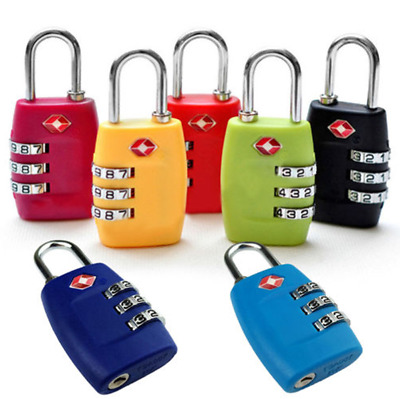 TSA Code Lock 3 Digital Combination Suitcase Luggage Security Password Lock RK23