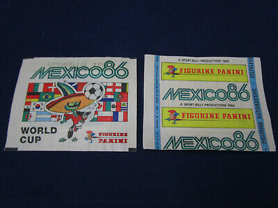 Panini WM WK WC 1986 Mexico 86, 1 packet/Tüte/bustina, rare omaggio version, VGC